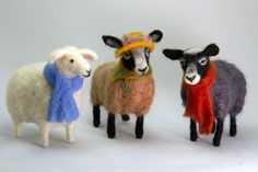 Ready to ship. These posable sheep are made using a dry needle felting technique over a wire armature. Thanks to wired skeleton the sheep may be wary gently positioned to follow your imagination by moving its legs and head. A great gift for anyone who loves sheep. I created this unique wool sculpture out of 100% natural sheep wool. These needle felted sheep are about 5.12 inches (13 cm) long, from the nose to the end of the tail, and 4.72 inches (12 cm) high.  I accept custom orders for this…