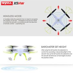 Features: 100% brand new. Compact and lightweight design. With LED light, possible for night fly. With 2.0MP HD camera, allows you to take photos and record video. Wifi real-time FPV brings the world in front of you. 360° eversion function for you to experience cool flying play. High-Low speed modes for both beginners and experts. With attractive headless model, completely solving pilot loss-of-orientation problems.