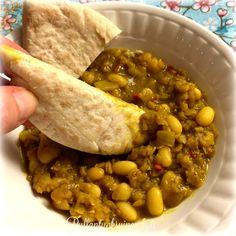 Intialaista ruokaa - papuja ja linssejä mausteisessa voikastikkeessa #intialainen #pavut #linssit