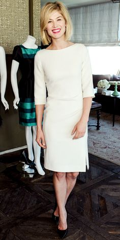Rosamund Pike in LK Bennett - Look of the Day: March 15, 2013 : InStyle.com