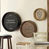 Wine Barrel Cabernet Sauvignon Plaque
