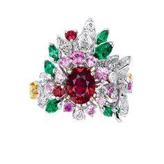 「ディオール」ヴェルサイユ宮殿の庭園が着想のハイジュエリー、瑞々しい草花をダイヤモンドやエメラルドで 写真39