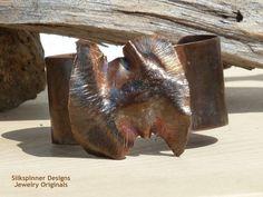 Fold Formed Copper T Fold Bangle/ Falten by SilkspinnerDesigns