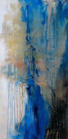 """Ocean's Generosity, 2013 acrylic on birch board 24"""" X 48"""""""
