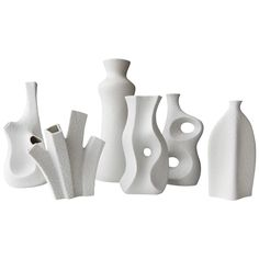 1960s Group of Sgrafo Modern Korallenform Vases, Peter Muller, Germany | From a unique collection of antique and modern ceramics at https://www.1stdibs.com/furniture/dining-entertaining/ceramics/
