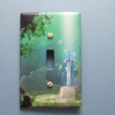 Master Sword Switch Plate by TheRecycledReader on Etsy, $3.00