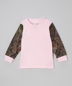 Look what I found on #zulily! Pink & Mixed Pine Camo Long-Sleeve Tee - Infant, Toddler & Girls #zulilyfinds