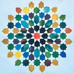 The beautiful geometry colourway tessellation result ❤️ اللهم صَلِّ على محمد وآله MashAllah #DesignerEsraGeometry Islamic Art Pattern, Arabic Pattern, Pattern Art, Geometric Drawing, Geometric Art, Turkish Pattern, Islamic Decor, Arabic Design, Tile Art