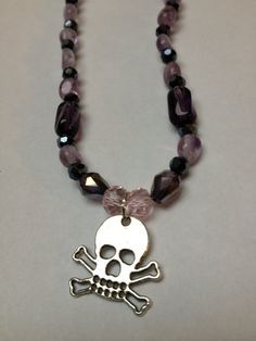 Girls Rock Handmade Necklace Featuring Pink and by ReprievesCorner, $11.99