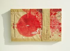Sketchbook Stab Bound Recycled, Red Sun Cover.