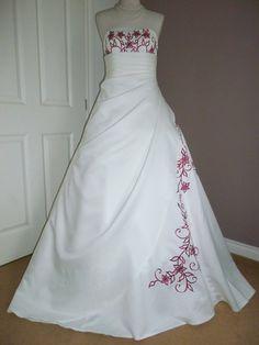 white and burgundy wedding dresses Wedding at Hawaii Pinterest