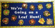 Going on a Leaf Hunt Bulletin Board Bulletin Board Borders, Back To School Bulletin Boards, Classroom Bulletin Boards, New Classroom, Classroom Displays, Classroom Ideas, Bulletin Board Supplies, Word Fonts, Creative Writing Prompts
