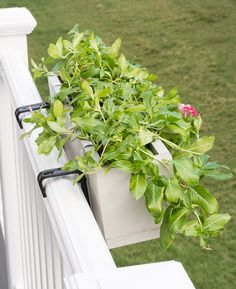 Learn how to build a simple wooden deck railing planter to add some greenery to your deck or balcony.