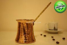 Turkish Coffee Pot SMALL - http://turkishbox.com/product/turkish-coffee-pot-small/  #turkishtowels #peshtemals #turkishproducts