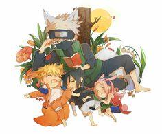 Pixiv Id 2542318, NARUTO, Hatake Kakashi, Uchiha Sasuke, Uzumaki Naruto, Haruno Sakura