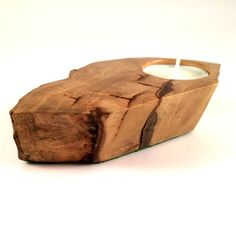 Wooden Tealight Holder handmade using Devon wood