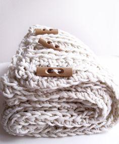 Crochet pattern Pdf Chunky crochet scarf by dziergalnia on Etsy, $5.00