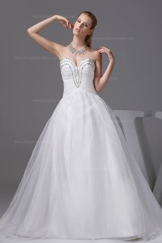 Sexy deep sweetheart with beading decoration organza A-line wedding dress  Read More:    http://re.customizesomething.com/index.php?r=sexy-deep-sweetheart-with-beading-decoration-organza-a-line-wedding-dress-10w.html