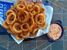 Beer Battered Onion Rings with Chipotle Dipping Sauce