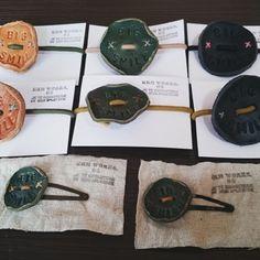 革のヘアゴム&ヘアピン作りました : kokochiよく暮らそ。 KRM WORKS.の手作り日記