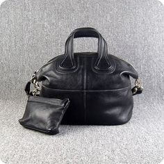 1154ca90a0ae Givenchy Nightingale in black color leather