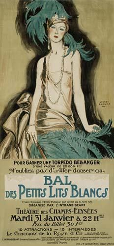 George Barbier (1882-1932) - French Art Deco Fashion Illustrator -  Charity-Ball Poster, France, 1922
