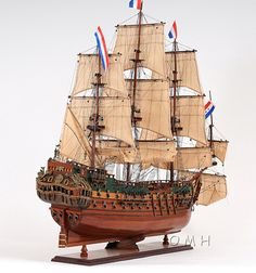 "CaptJimsCargo - Holland Frigate Friesland Wood Model 29"" Tall Ship Sailboat,(http://www.captjimscargo.com/model-tall-ships/warships/holland-frigate-friesland-wood-model-29-tall-ship-sailboat/) A larger 37"" Friesland fully assembled model is available."