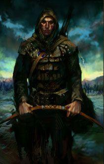 via PlanetBaldursGate - human archer fantasy portrait
