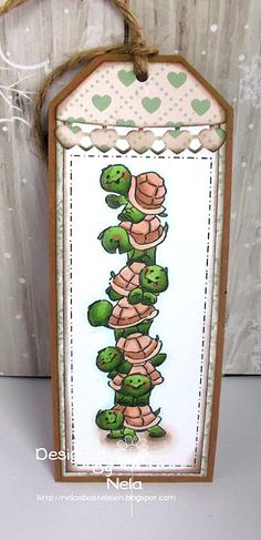 Art Impressions Rubber Stamps: Ai Stacker Sliders: 4741 – Turtle Stackers ... handmade tag card. Slider Die
