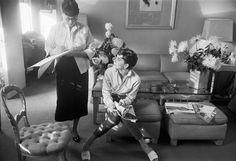 Edith Head + Audrey Hepburn by Mark Shaw