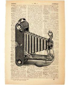 vintage book page art print