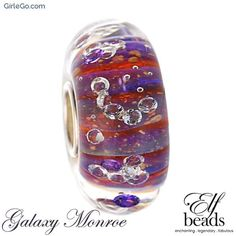 Elfbeads Galaxy Monroe Glass Bead G160308 From the Shades of Love Collection at GirleGo