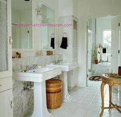 Pedestal Sink Bathroom Design Ideas With Bathroom Pedestal Sinks and Faucet Fixtures