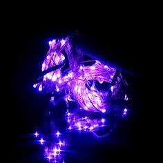 번쩍이는 LED 구리 끈 빛
