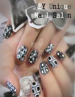 fashion magazine nail by YEYUniqueNail