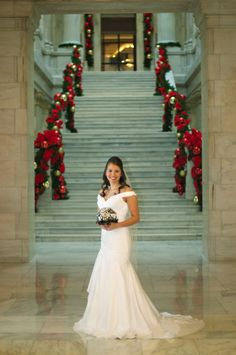 christmas wedding photo idea