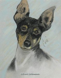 My Oh My Toy Fox Terrier By Cori Solomon, painting by artist Art Helping Animals