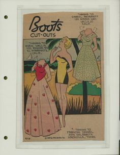 9-20-59 Boots paper doll / eBay
