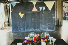 Colorful, Modern Geometric Shoot in San Diego at The New Children's Museum Wedding Chalk Art, Chalk Artist, Museum Wedding, San Diego Wedding, California Wedding, Decor Styles, The Incredibles, Gallery, Children's Museum