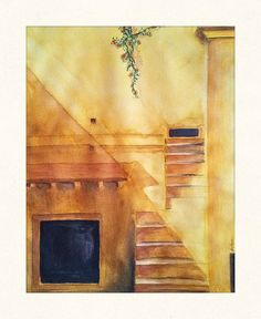 So here it is after a very long time ...Stairs in yellow color, guess watercolors and i can go a long way :)