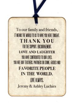 Custom Listing For Ashley -  275 Wedding Reception Thank You Place Card Tags - Escort Tags - Vintage Style
