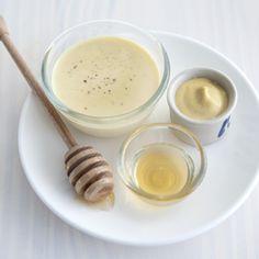 Recept - Honing-mosterdvinaigrette - Allerhande - Neem in plaats van mayo yoghurt.
