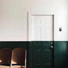 Half painted doors.