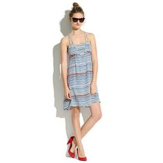 $168 Madewell Striped Silk Riverbank Dress I love just about everything in this store, except the prices...