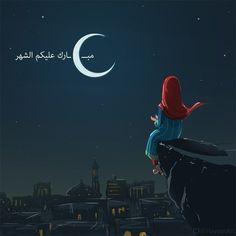 Photo Ramadan, Ramadan Sweets, Sarra Art, Hijab Drawing, Ramadan Activities, Islamic Cartoon, Eid Mubarak Greetings, Anime Muslim, Hijab Cartoon