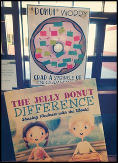 """Sprinkle Kindness throughout your school with this fun activity! I know most of y'all have seen """"The Jelly Donut Difference"""" by Maria Dismondy posted about al Teaching Kindness, Kindness Activities, Book Activities, Kindness Elves, Kindness Ideas, Movement Activities, Physical Activities, Elementary School Counselor, School"""