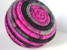 Yarn Coiled Basket  by JCstars, $35.00