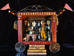"""Doctor Feel Good's Medicine Show"" 2014 mixed media assemblage by Dianne Hoffman"