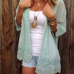 Lace Embroidered Kimono Summer Outfits For 2017 f12cd2cf2693