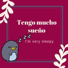 El pequeño pingüino tiene sueño The little penguin is sleepy . .  #spanish #learnspanish #español #aprender español #clase de español #languages #idiomas #education #educacion #vocabulary #vocabulario #bilingual #polyglot #english #learnenglish #lenguaespañola #words #palabras #inglés #english #clases de inglés #frasesenespañol #fraseseningles #frases inspiradoras #inspirational quotes #dormir #sleep #bedroom #dormitorio Spanish Grammar, Spanish Phrases, Spanish Vocabulary, Spanish Words, Spanish Language Learning, English Phrases, English Words, Spanish Basics, Spanish Lessons